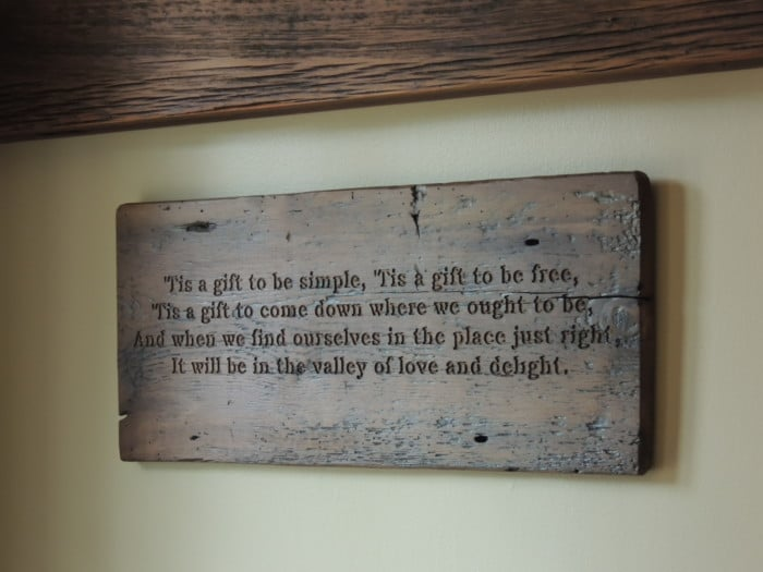 Wooden sign with