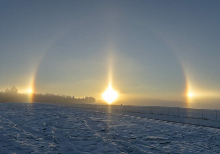 Sundog in the Snow